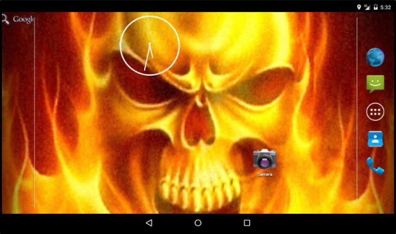 Fire Skull Live Wallpaper Screenshot 5
