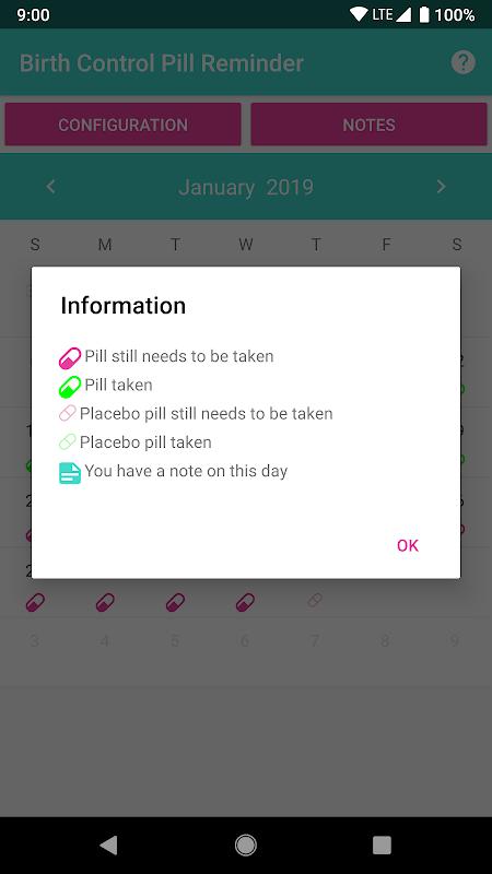 Birth Control Pill Reminder & Tracker screenshot 1