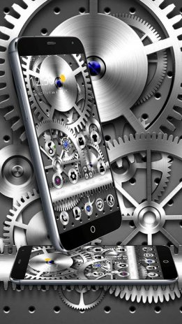 Silver Mechanical Gears Theme 113 Descargar Apk Para