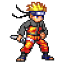 Color by Number - Naruto Sandbox Ninja Pixel
