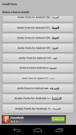 download font style for android
