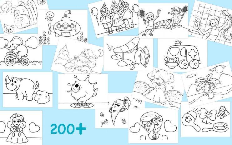 First Colouring Book For Preschool Kids Screenshot 1