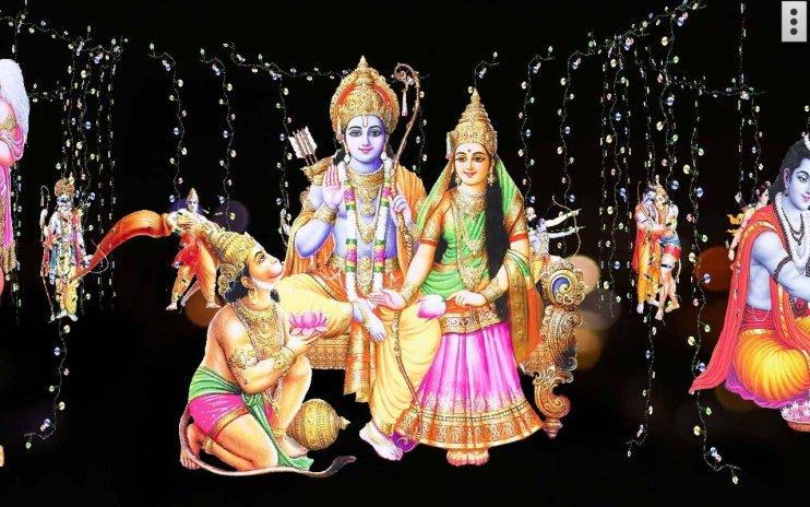 4d Shri Rama शर रम दरबर Live Wallpaper 50