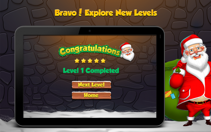 santa christmas candy screenshot 4 - Christmas Candy Games
