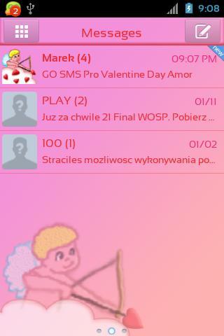 Go Sms Pro Valentinstag Amor Screenshot 1 ...