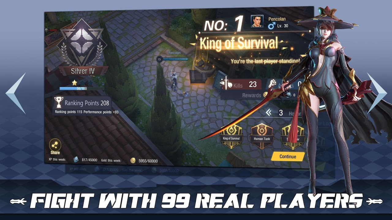 Survival Heroes - MOBA Battle Royale screenshot 1