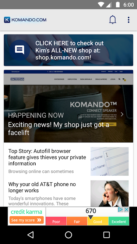 Komando.com App screenshot 2