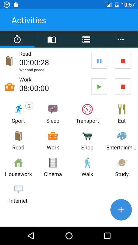 aTimeLogger - Time Tracker screenshot 1
