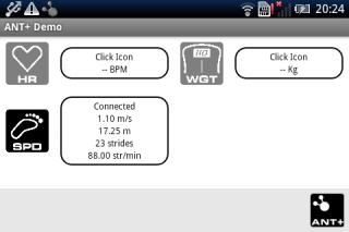 ANT BTIPS HAL Service Screenshot