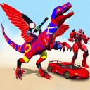 Flying Dinasaur Robot Car Transform: Dino Games