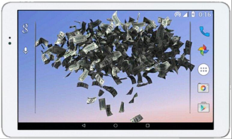 Screenshot Money Rain Live Wallpaper 1