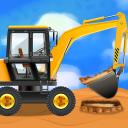 Veículos de construção e caminhões -Jogos Crianças