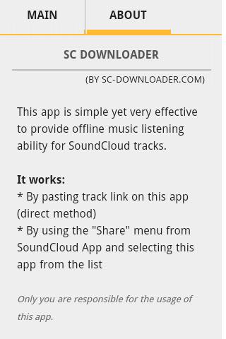 SoundCloud Downloader screenshot 2