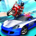 Bandit Rider 3D: smash cops racing