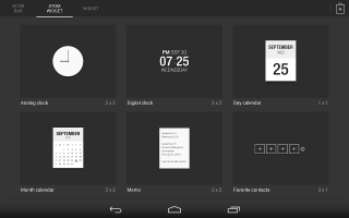 Atom All in One Widgets Screen
