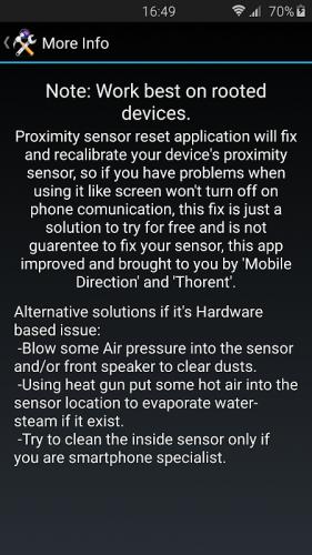 Датчик приближения Сброс ремонт screenshot 8