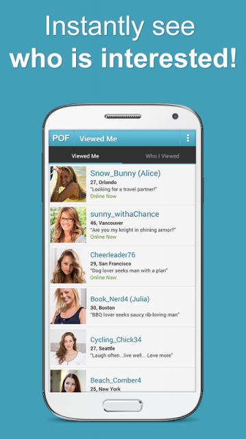 pof free online dating site apk android