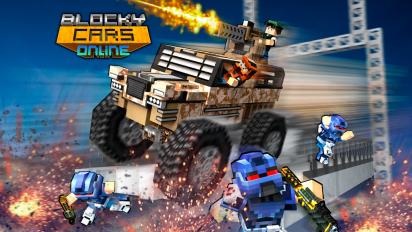 blocky cars online shooter fps screenshot 7