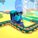 Lumber Railroad Race - Build and Win