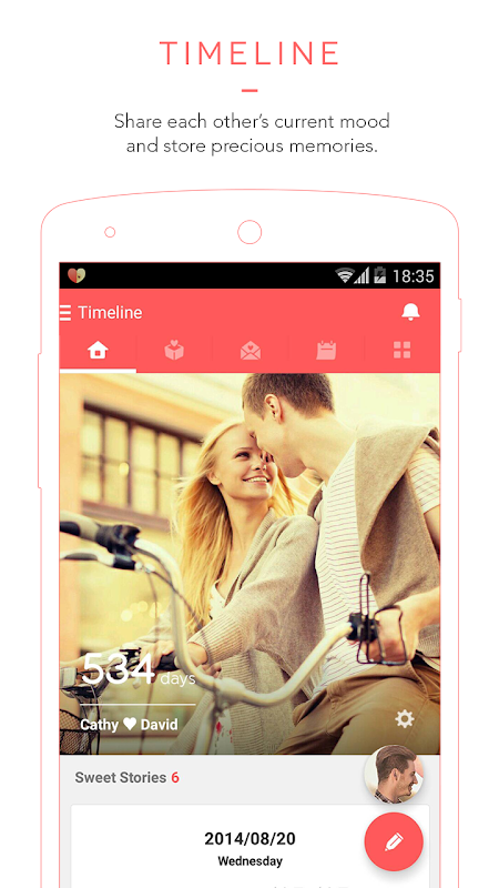 Couplete - App for Couples screenshot 1