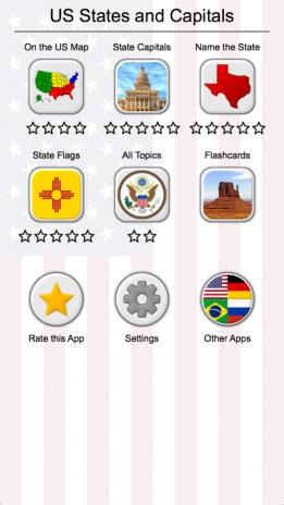 50 US States Map, Capitals & Flags - American Quiz 2.2 Download APK ...