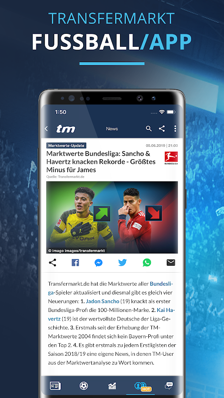 Transfermarkt: Fußballnews, Bundesliga, Liveticker screenshot 1