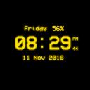 Pixel Digital Clock Live Wallpaper