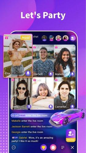 Chamet - Live Video Chat & Meet & Party Rooms screenshot 4