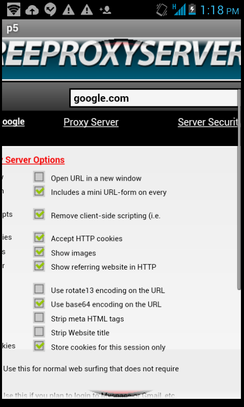 Anonymous Mobile Proxy List 1 2 Download APK para Android