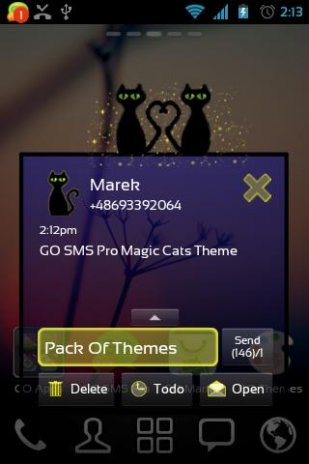 GO SMS Pro Magic Cats Theme 2 0 Download APK for Android