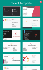 business card maker visiting card maker photo logo screenshot 7