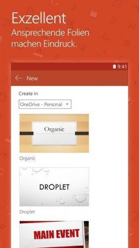 Microsoft PowerPoint: Präsentationsfolien screenshot 2