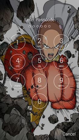 Saitama Fan Anime Lock Screen Wallpaper Screenshot