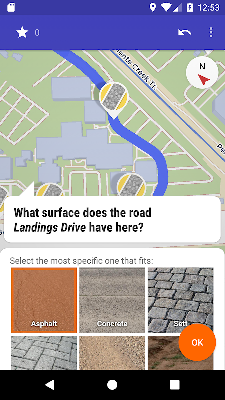 StreetComplete screenshot 1