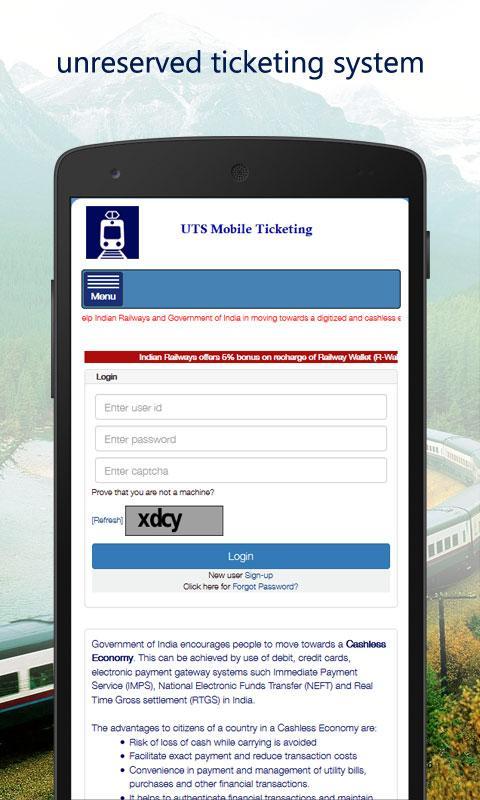 UTS Mobile Ticketing screenshot 2