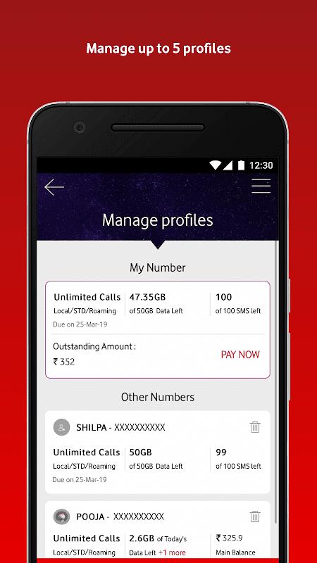 MyVodafone (India) - Online Recharge & Pay Bills screenshot 1