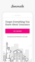 Lemonade: Renters & Homeowners Insurance Screen