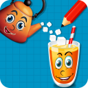 Smile Glass : Draw Lines Puzzle Classic