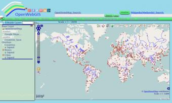 OpenWebGIS Screenshot