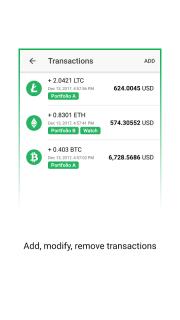 Vertfolio - Cryptocurrency Portfolio App screenshot 2