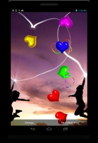 Neon Hearts live wallpaper screenshot 4