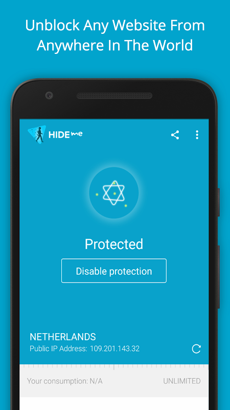 hide.me VPN screenshot 2