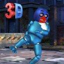 Street Night Battle Animatronic VS Robotic