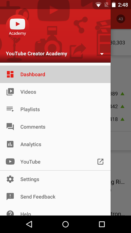 YouTube Studio screenshot 1