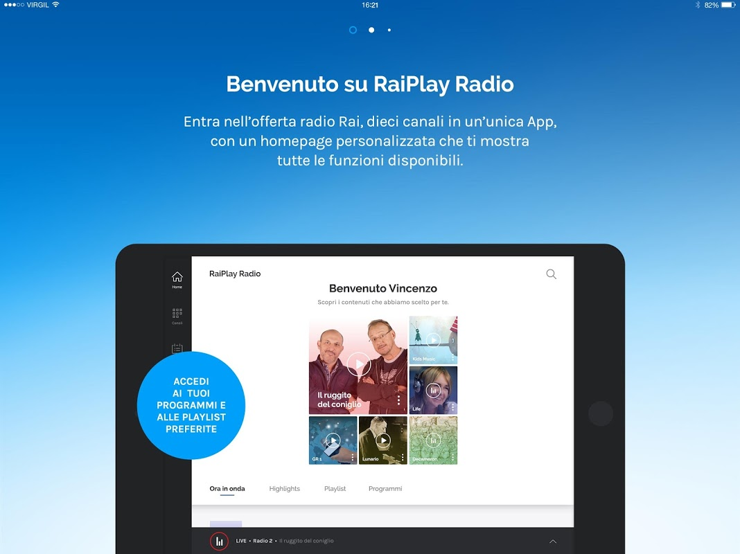 audio da raiplay radio