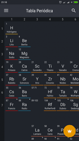 Tabla peridica 2018 0161 descargar apk para android aptoide tabla periodica 2018 captura de pantalla 1 urtaz Gallery