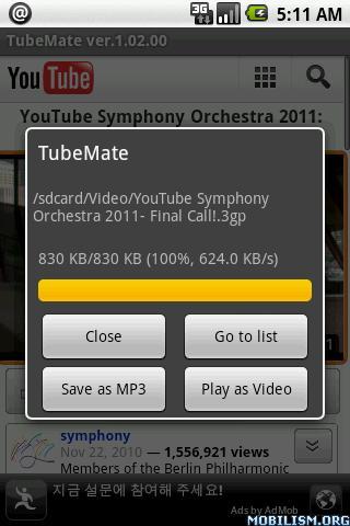 TubeMate screenshot 1