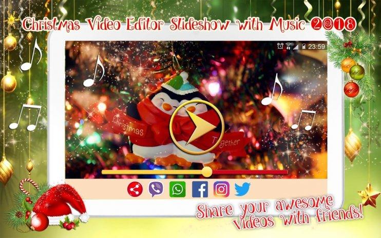 christmas video maker slideshow with music screenshot 12