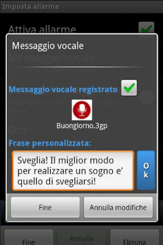 Sveglia Parlante Screenshot