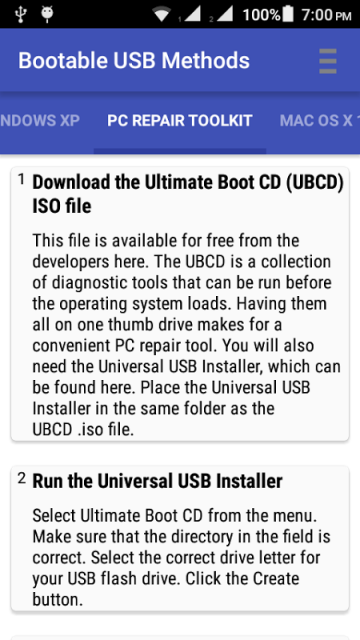 how to make a bootable usb android